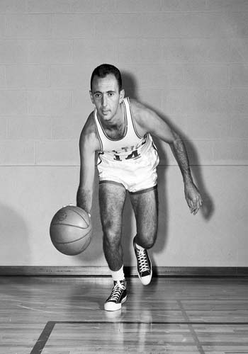 Legendary Hall of Famer Bob Cousy of the Boston Celtics.