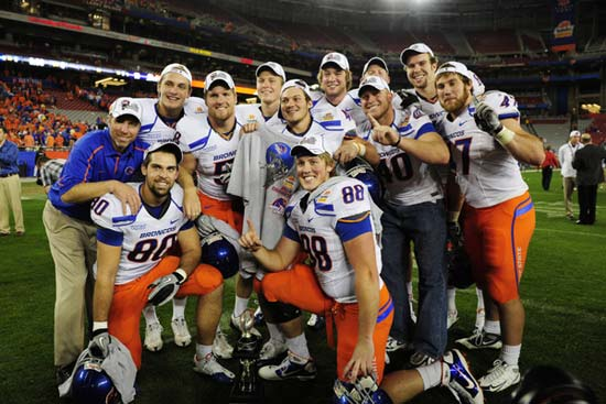 Boise State football players