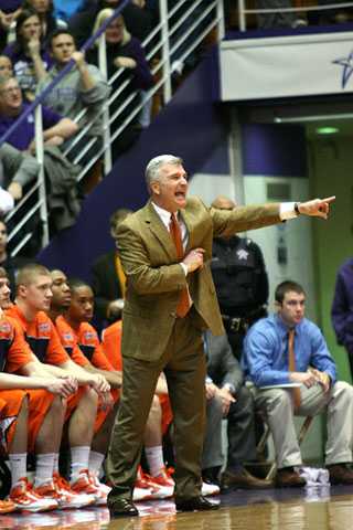 Illinois' head coach Bruce Weber.