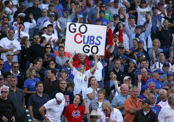 The Troubles of Cub Fans - A Chicago Cubs fan cheers