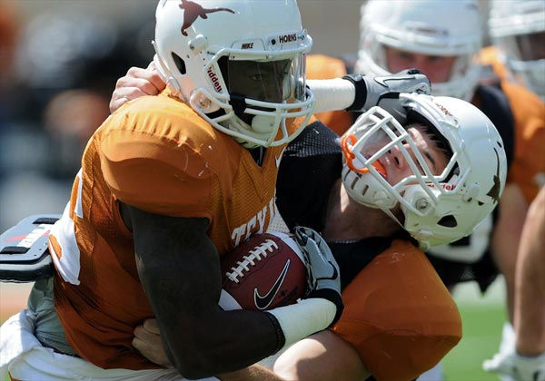 Texas Longhorns running back D.J. Monroe