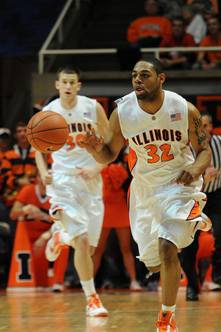 Illinois Junior Guard Demetri McCamey.