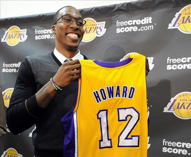 Los Angeles Lakers center Dwight Howard