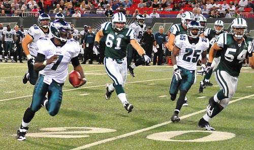 Michael Vick carrying the ball