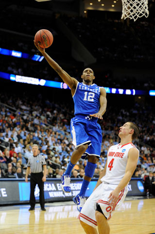 Guard Brandon Knight of the Kentucky Wildcats
