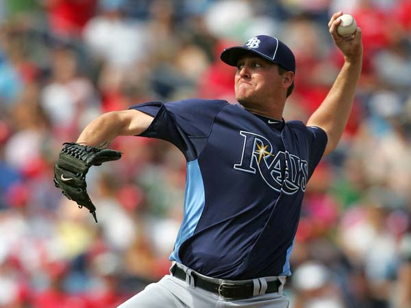 Jake McGee of the Rays Delivers a Pitch