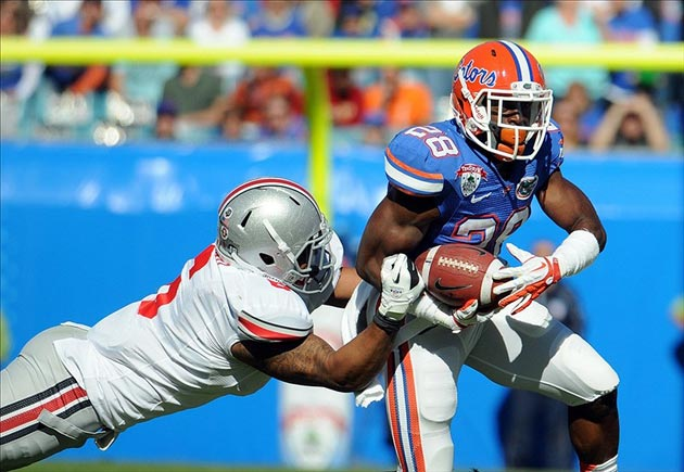 Florida Gators running back Jeff Demps