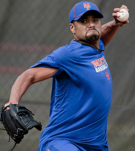New York Mets pitcher Johan Santana