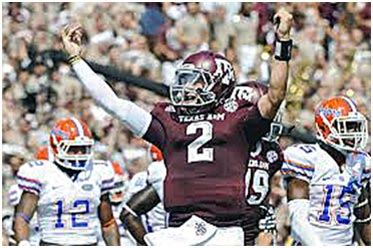 Texas A & M quarterback Johnny Manziel