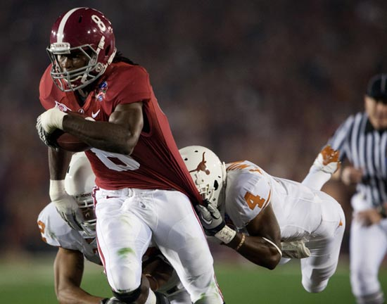 Wide receiver Julio Jones of the Alabama Crimson Tide