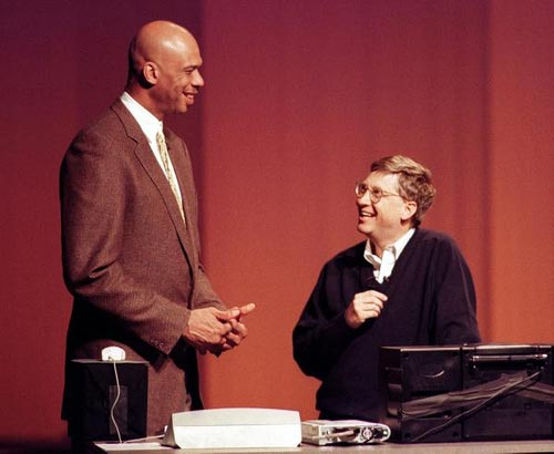 Center: Kareem Abdul Jabbar
