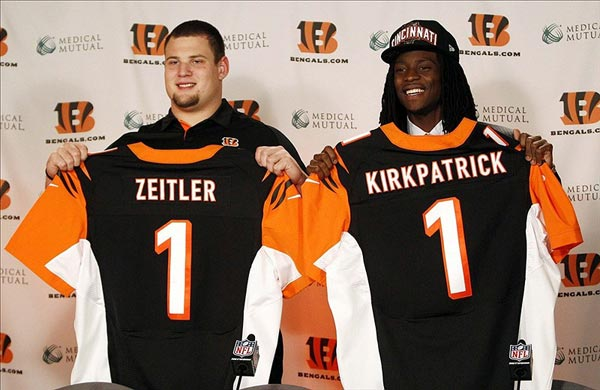 Cincinnati Bengals first round draft picks Dre Kirkpatrick and Kevin Zeitler