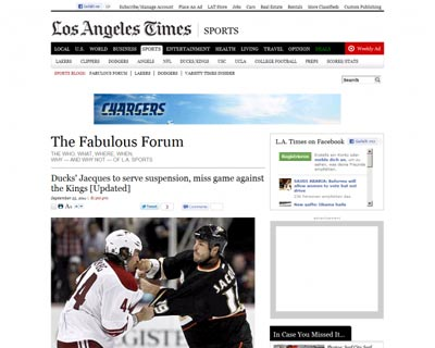 Los Angeles Times Sports