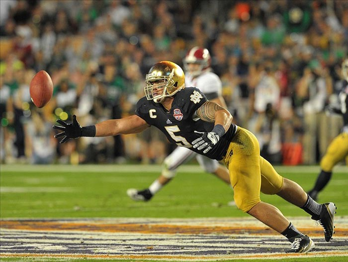 Notre Dame Fighting Irish linebacker Manti Te'o