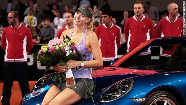 Maria Sharapova Wins Stuttgart Event For The 3rd Time!!
