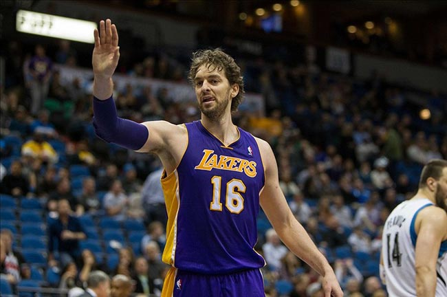Los Angeles Lakers forward Pau Gasol