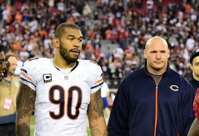 Julius Peppers and Brian Urlacher
