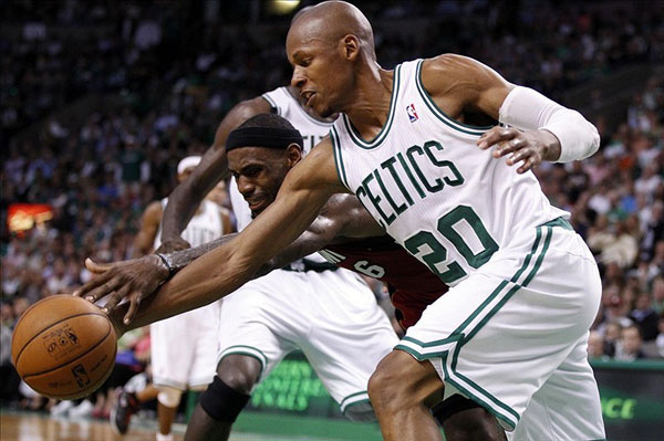 Boston Celtics shooting guard Ray Allen