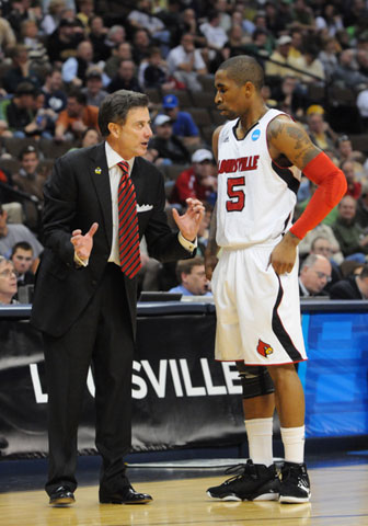 Rick Pitino and Guard Chris Smith