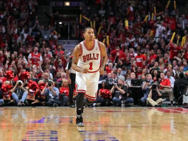 Chicago Bulls point guard Derrick Rose