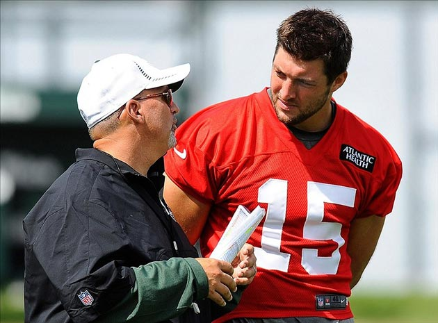 New York Jets quarterback Tim Tebow