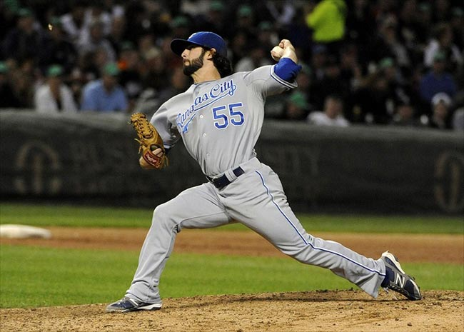 Kansas City Royals relief pitcher Tim Collins