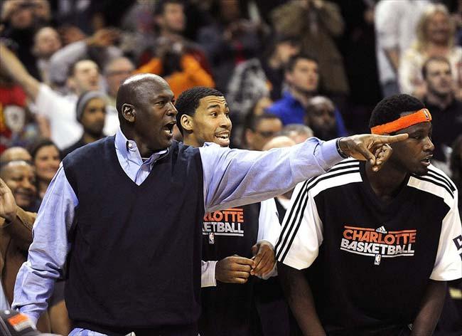Bobcats team owner Michael Jordan
