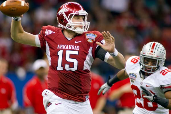Arkansas Razorbacks quarterback Ryan Mallett