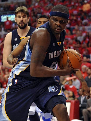 Memphis Grizzlies power forward Zach Randolph