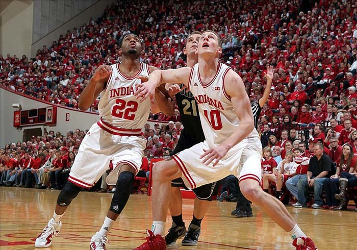 Indiana Hoosiers Forward Cody Zeller and Guard Maurice Creek